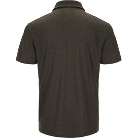 super.natural Comfort Poloshirt Men Brown Charcoal 3D